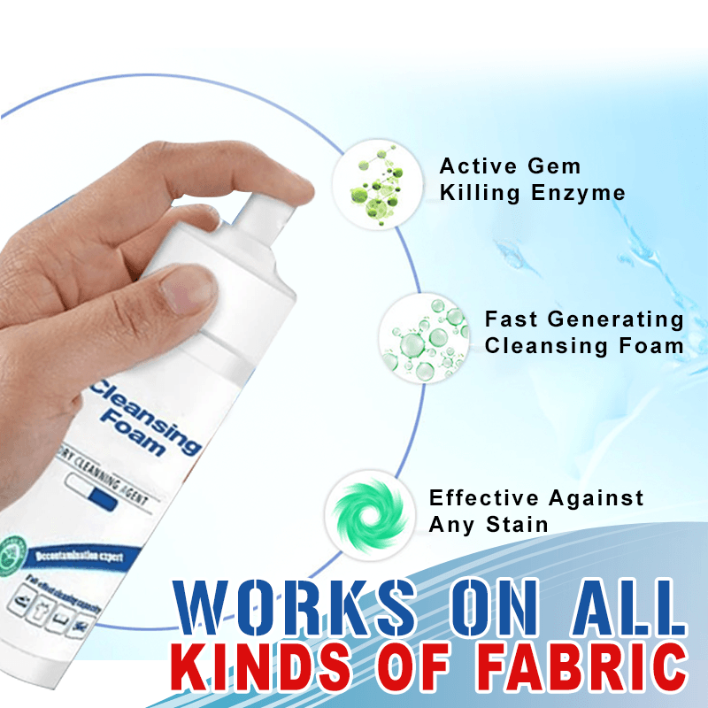 Water-Free Clothing Stains Foam
