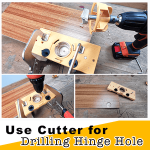 Hinge Drilling Jig Carpentry Set