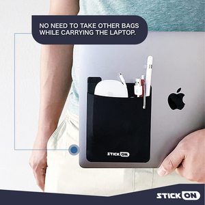 Stick-On Laptop Back Storage Bag