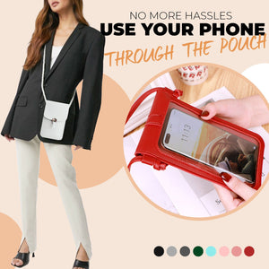 Premium Touchable Leather Mobile Phone Purse