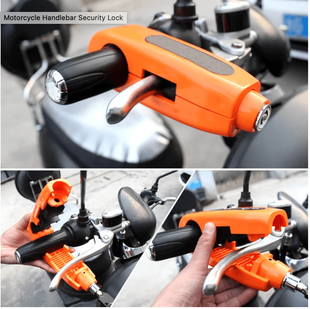 Motorcycle Handlebar Security Lock