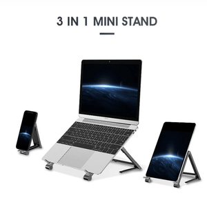 3-In-1 Adjustable Laptop Tablet Phone Holder