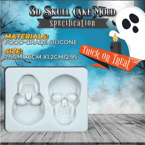 3D Skull Cake Jelly Chocolate Mould