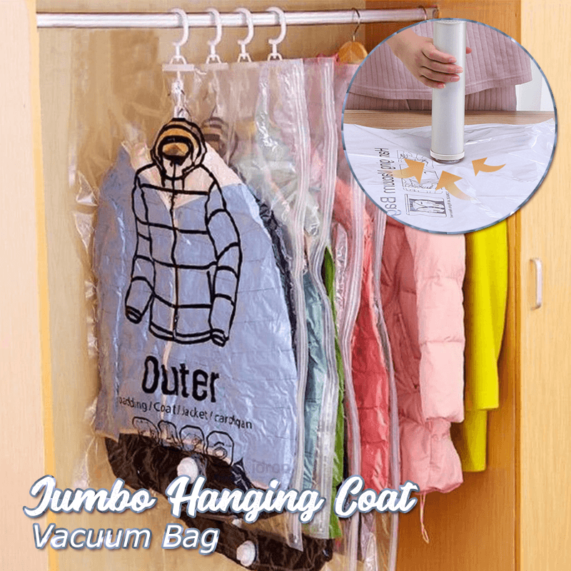 Jumbo Hanging Coat Vacuum Bag 1688 Medium 1 Bag(With 1 Free Pump)