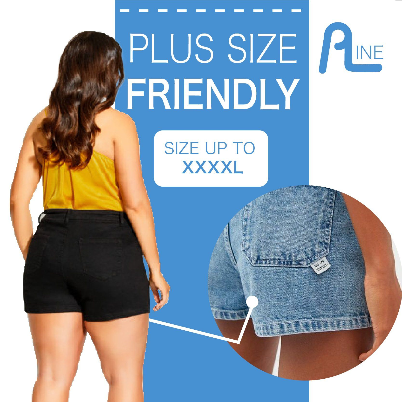 HipUp A line Denim Short