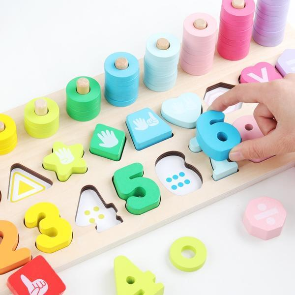 Colorful Number Wooden Puzzles