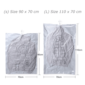 Jumbo Hanging Coat Vacuum Bag 1688 Medium 3 Bags(With 1 Free Pump)