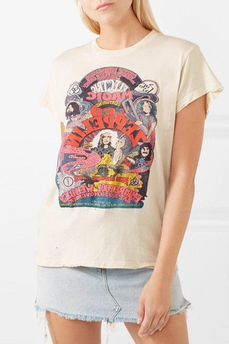 Vintage Rock Led Zeppelin T-Shirt Frau