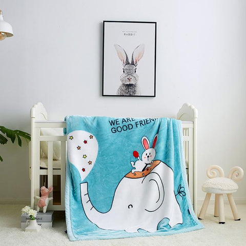 🎄Christmas Sale-Personalized Children Raschel Blankets- Double Thickened Cartoon Cloud Blanket Soft Warm Best Gifts for Christmas