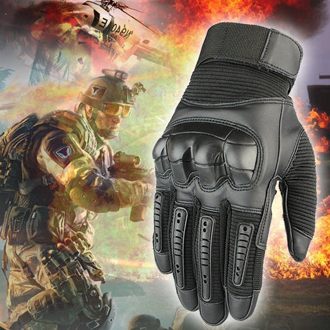 Military full finger tactical gloves / outdoor adventure protective gloves