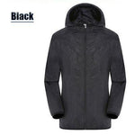 Unisex Rain Jacket Packable Outdoor Ultra-Light Waterproof Hooded Pullover Anti-UV Coat