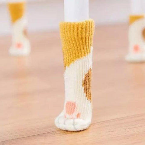 Cat Paw Chair Socks(4PC=$5.99)