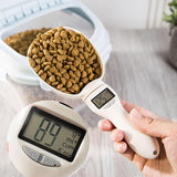 Pet food drinking water scoop cup scale with LED display