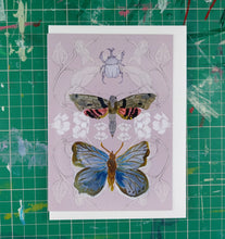 Load image into Gallery viewer, Rhino Beetle, Moth and Butterfly Card