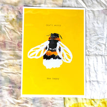 Load image into Gallery viewer, Bee Happy Motivational Print