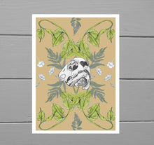 Load image into Gallery viewer, Turtle Skull and Bindweed Print - Duck Egg Designs Co