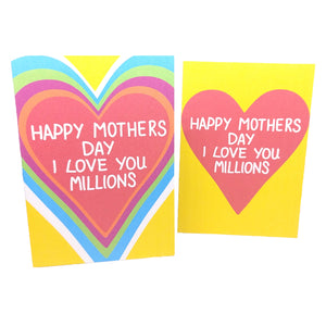 I Love You Millions Mothers Day Card