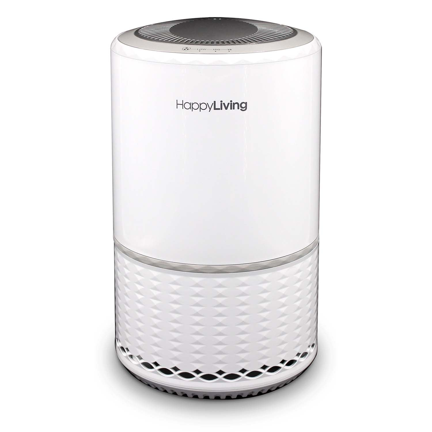 Happy Living 3 Stage HEPA Air Purifier Glossy White