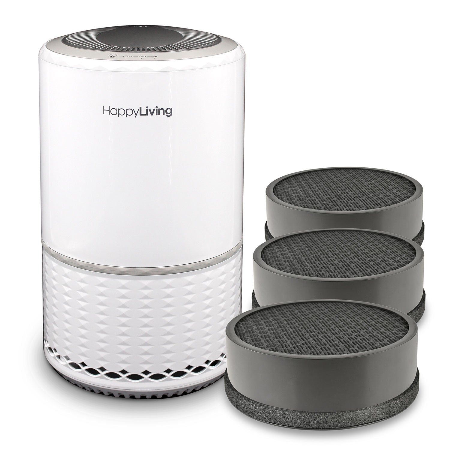 An image of a white HL-001 air purifier bundle.
