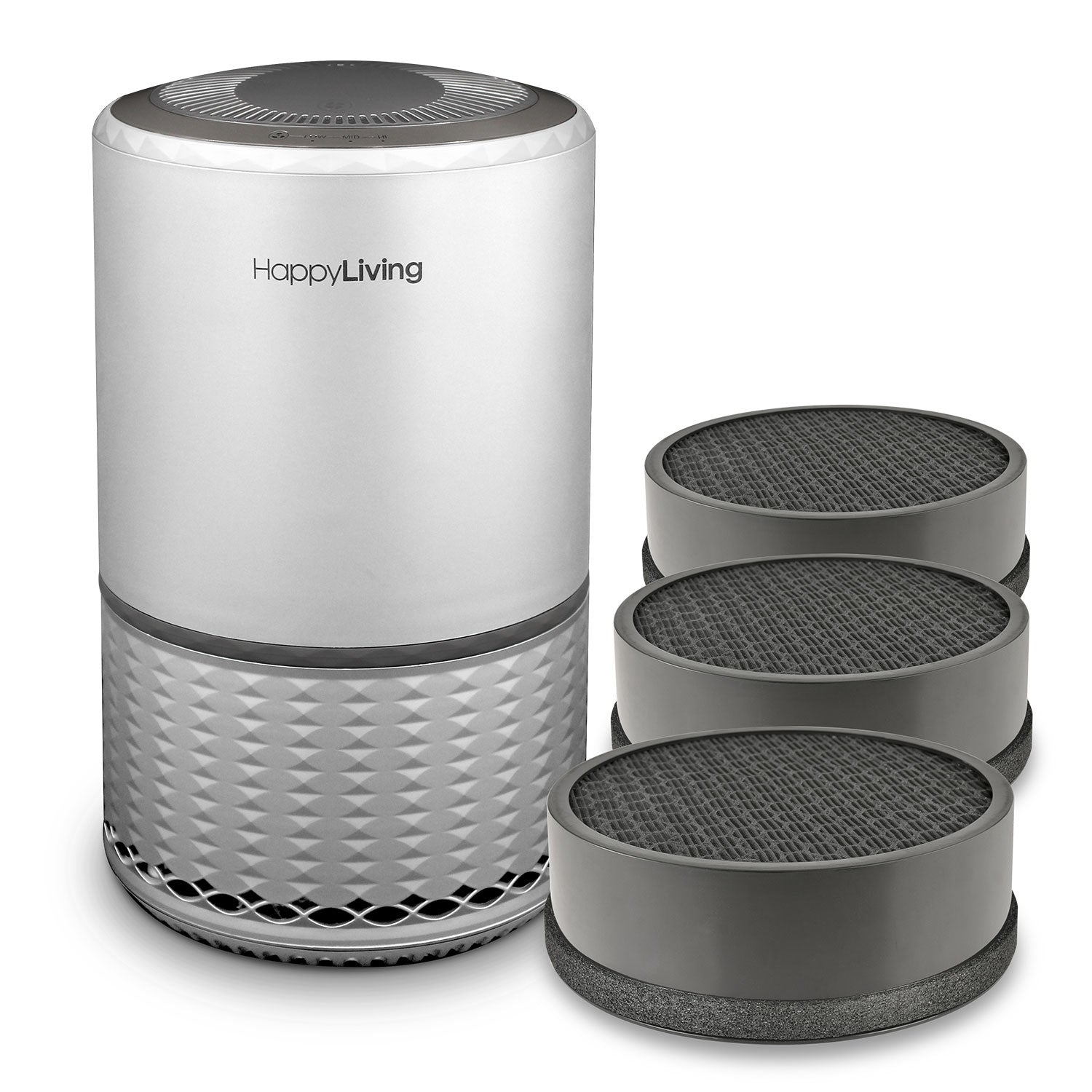 An image of a gray HL-001 air purifier bundle.