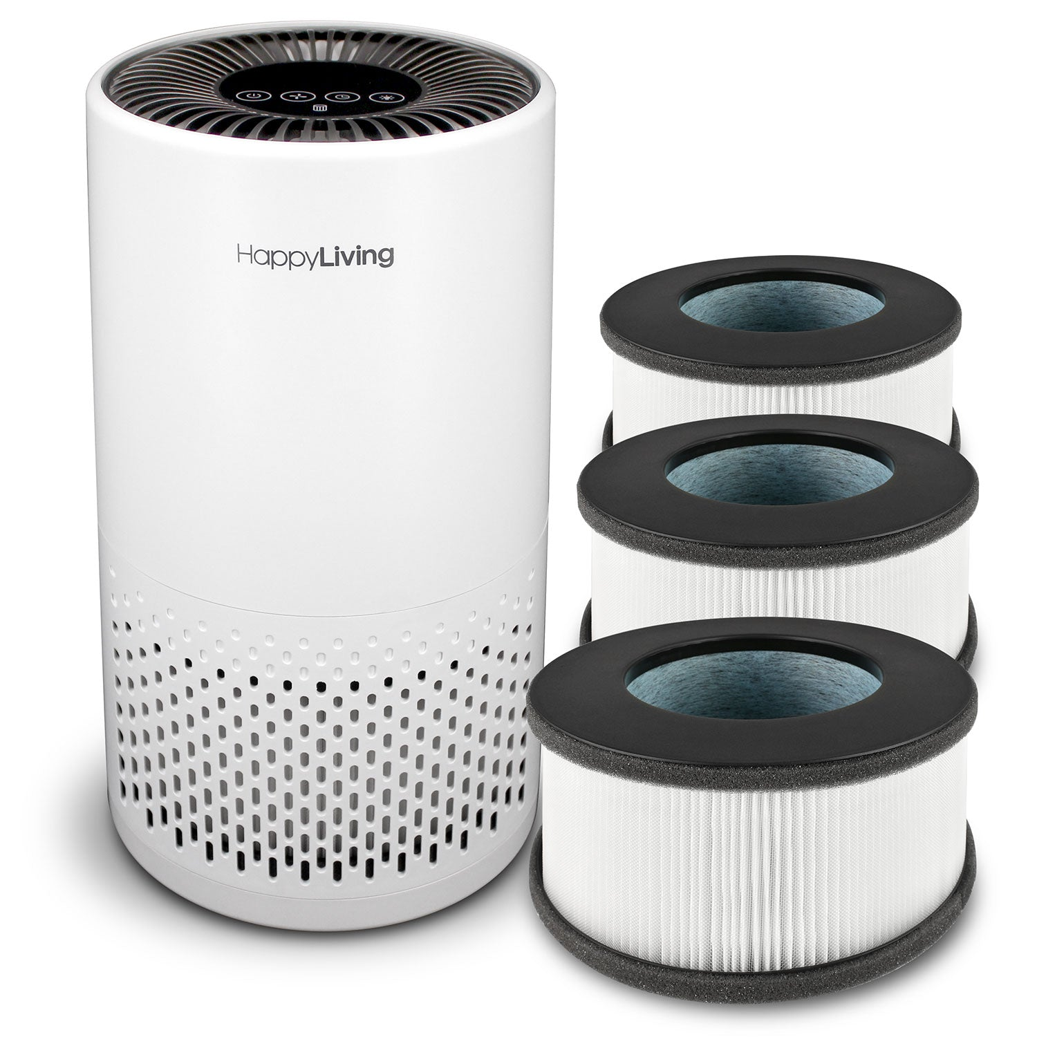 Happy Living HL-002 Air Purifier + HEPA Filter Bundle