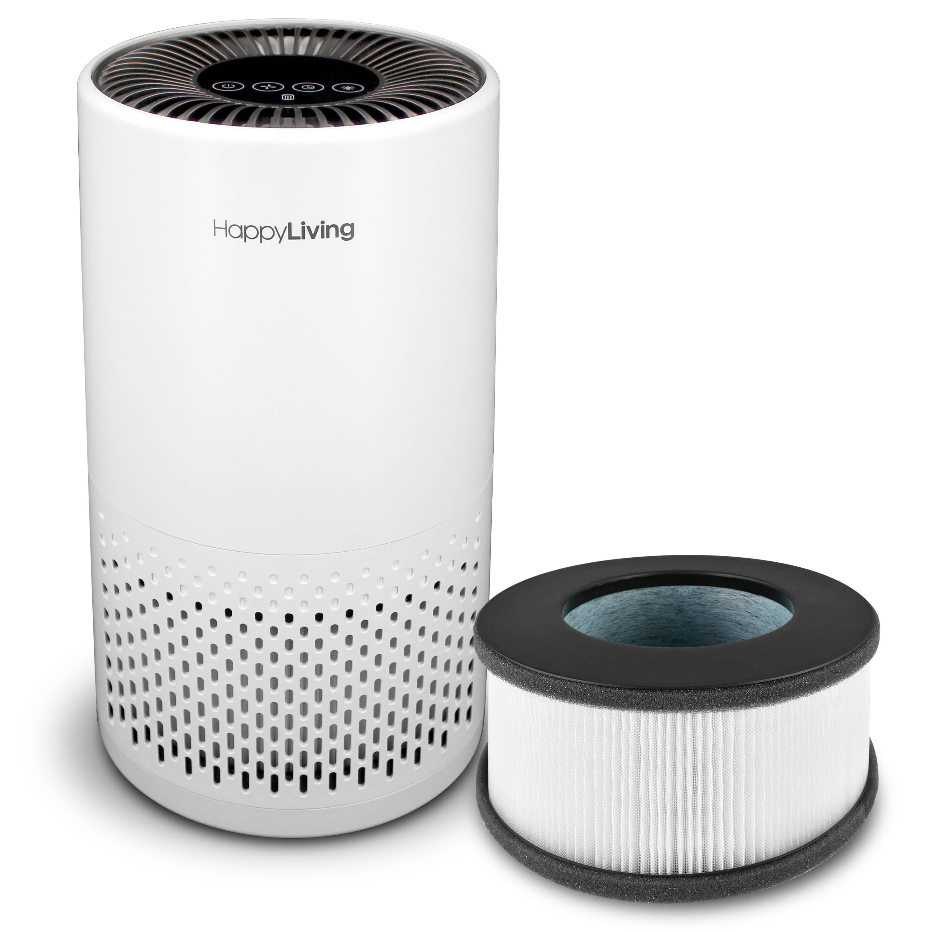 An image of a white HL-002 air purifier.