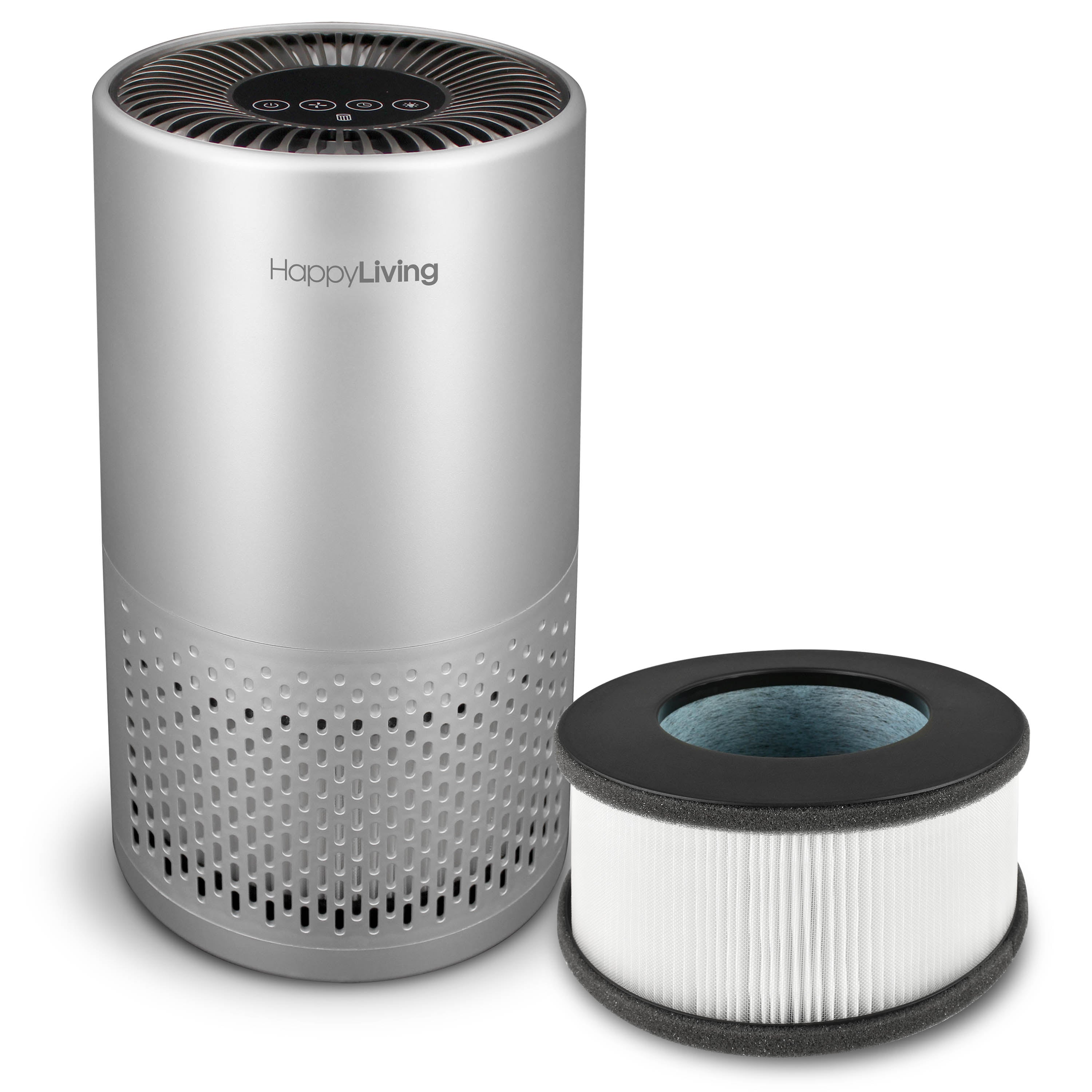 An image of a gray HL-002 air purifier.
