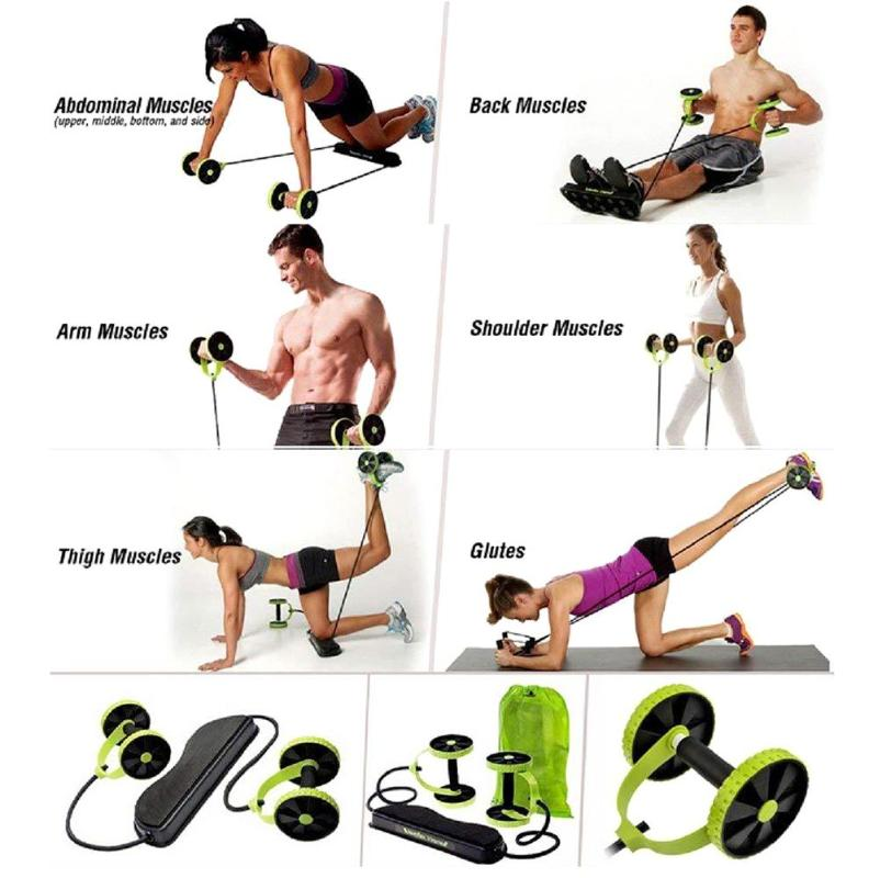AB Wheels Roller Resistance Pull Rope