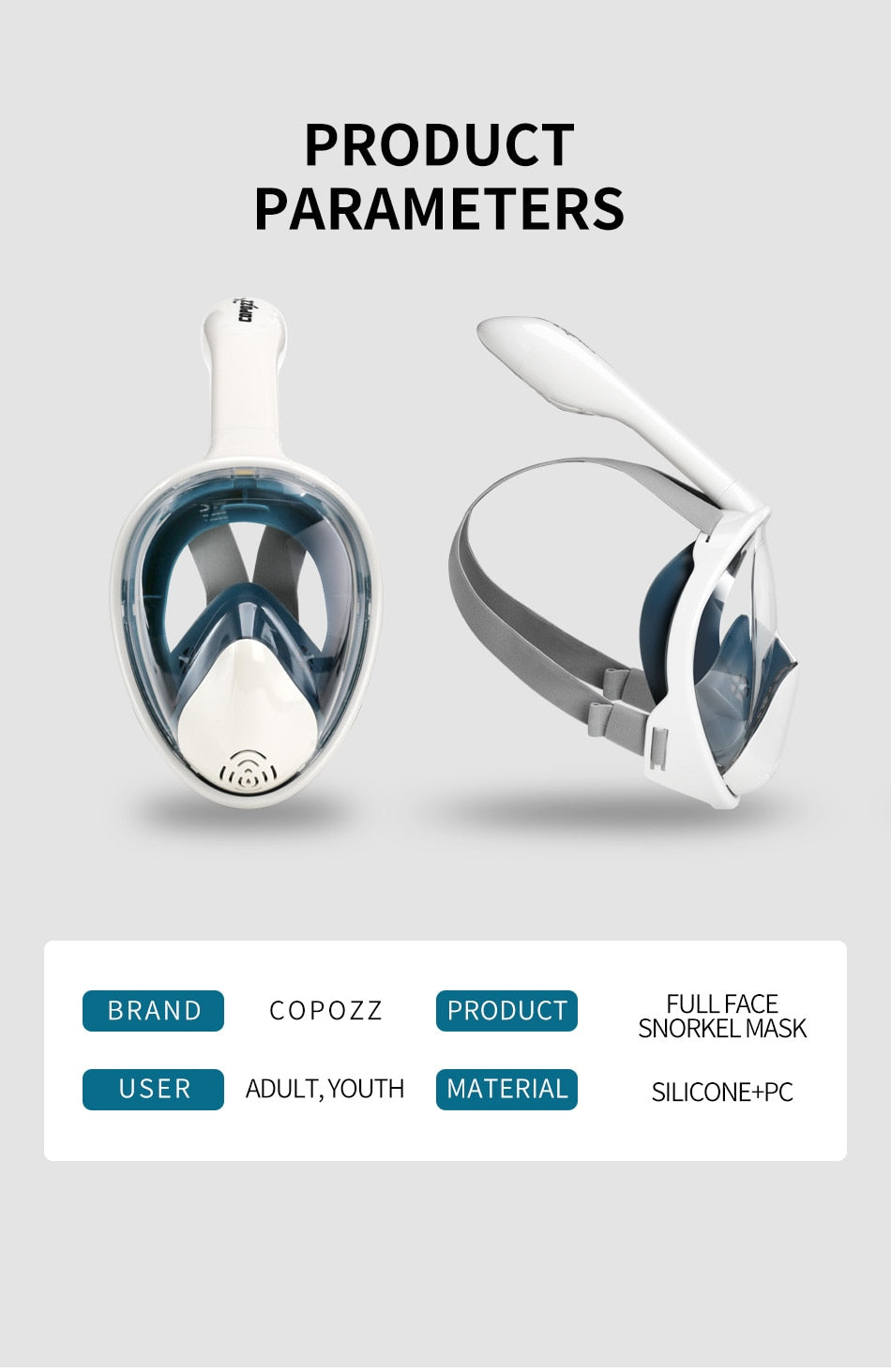 COPOZZ - Full Face Snorkeling Mask