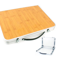 Load image into Gallery viewer, BAMBOO ALLOY FOLDABLE PICNIC TABLE