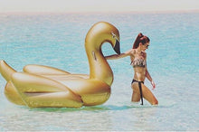 Load image into Gallery viewer, GIANT GOLD FLOATING SWAN!