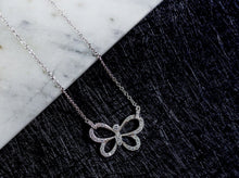 Load image into Gallery viewer, Sterling Silver Cubic Zirconia Butterfly Necklace