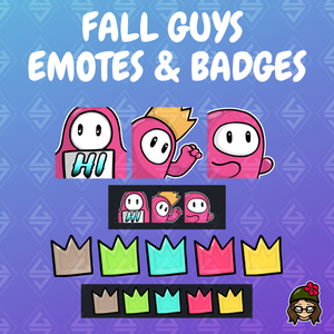 'Fall Guys' Emotes and Sub Badges Pack