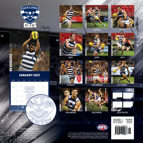 AFL Geelong Cats 2021 Calendar