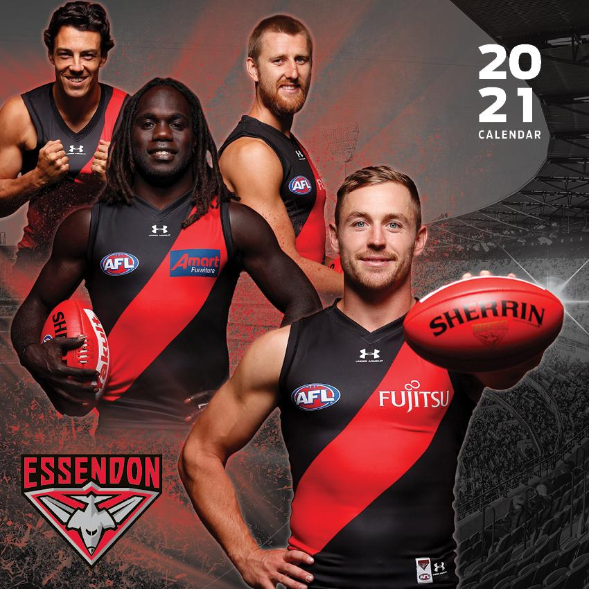 Paper Pocket - AFL Essendon Bombers 2021 Calendar