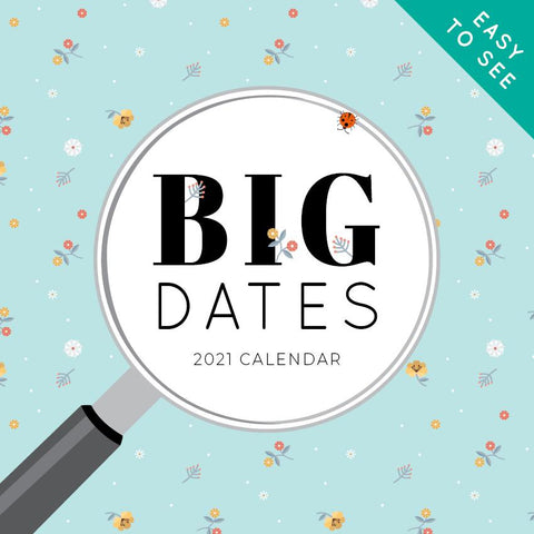 Paper Pocket - BIG DATES -Easy- to-See 2021 Calendar