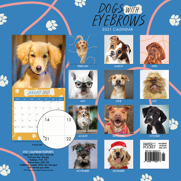 Dogs with Eyebrows 2021 Calendar