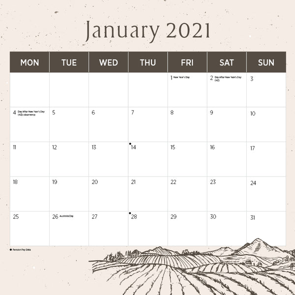 English Countryside 2021 Calendar