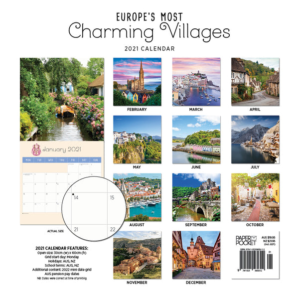 Europe's Most Charming Villages 2021 Calendar