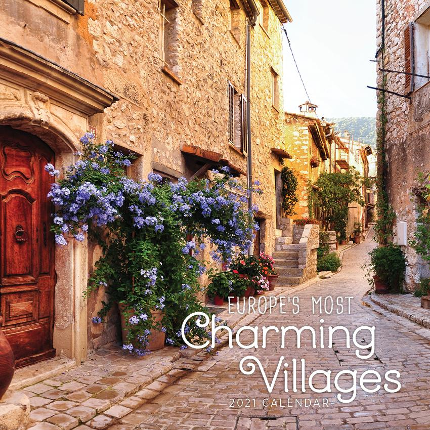 Paper Pocket - Europe's Most Charming Villages 2021 Calendar