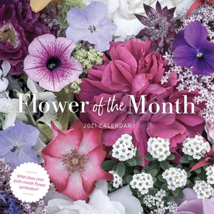 Paper Pocket - Flower of the Month 2021 Calendar