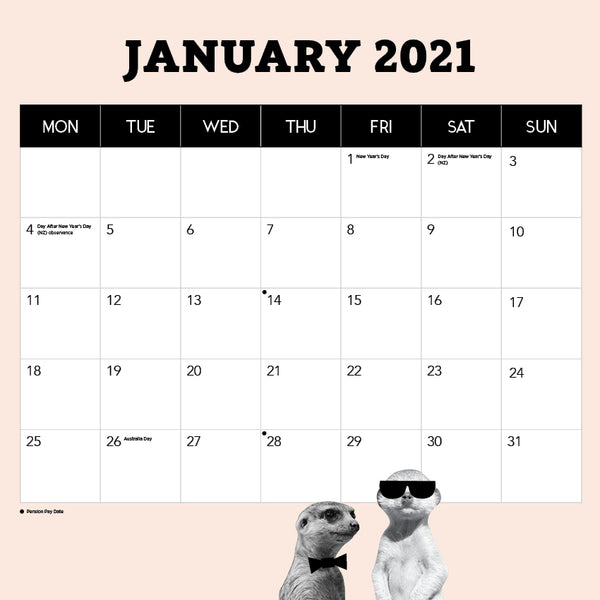 Gangs of Meerkat Manor 2021 Calendar