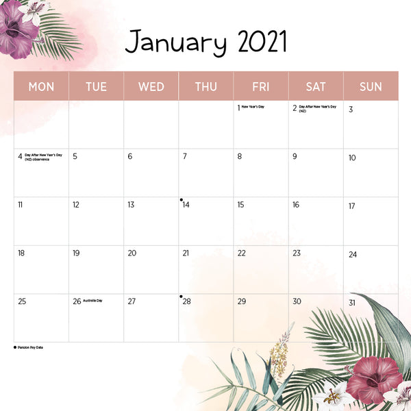 International Islands 2021 Calendar