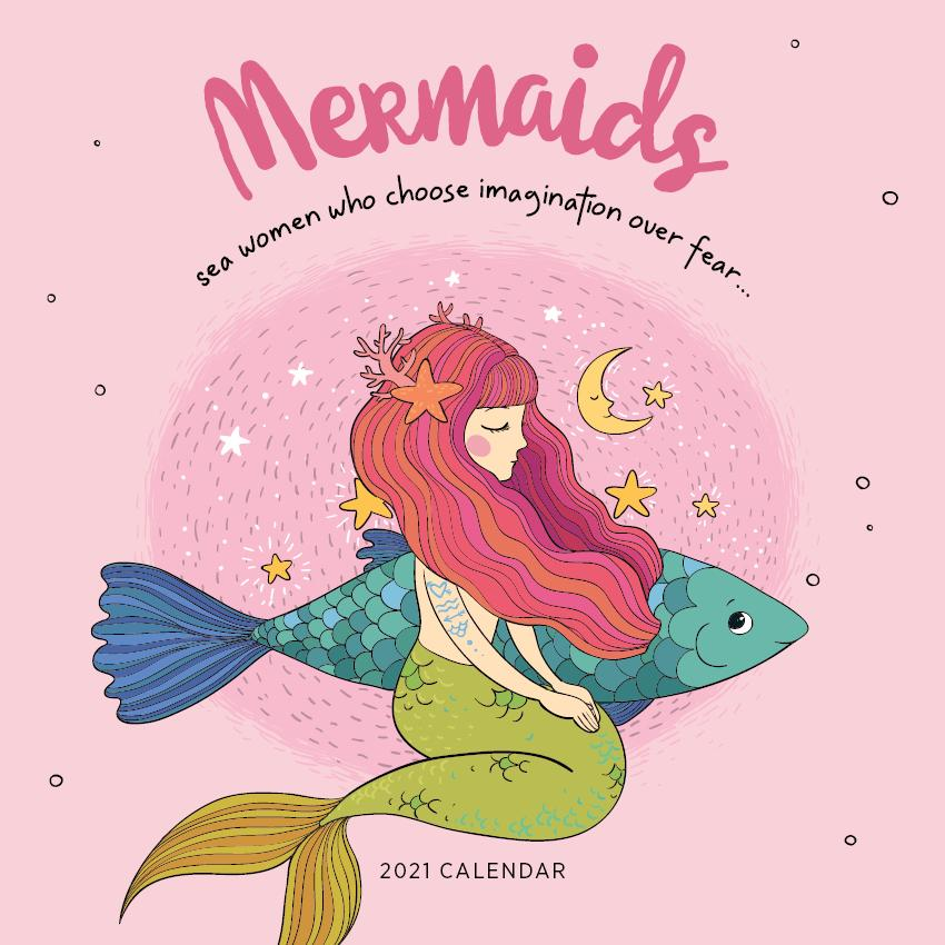 Paper Pocket - Mermaids 2021 Calendar
