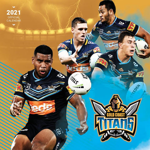 Paper Pocket - NRL Gold Coast Titans 2021 Calendar