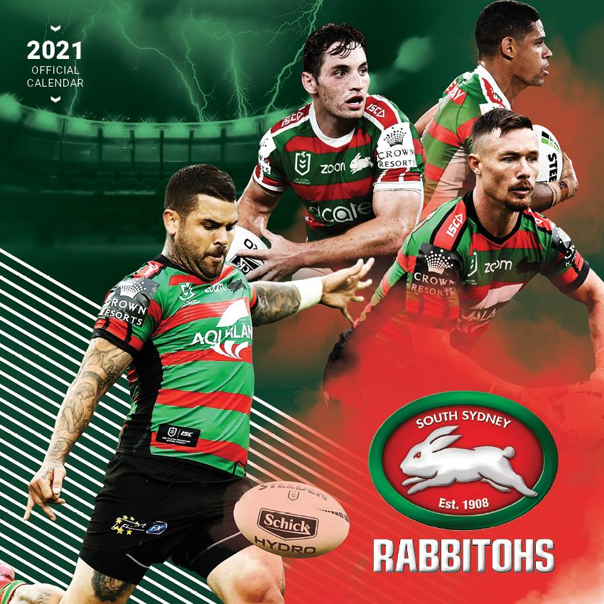 Paper Pocket - NRL South Sydney Rabbitohs 2021 Calendar