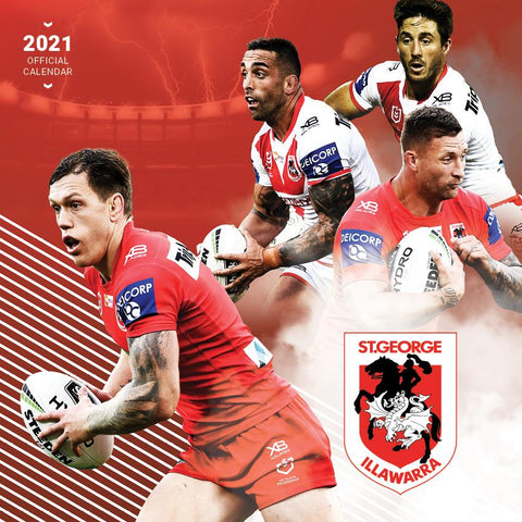 Paper Pocket - NRL St George Illawarra Dragons 2021 Calendar