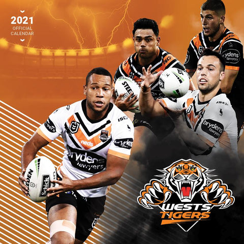 Paper Pocket - NRL Wests Tigers 2021 Calendar