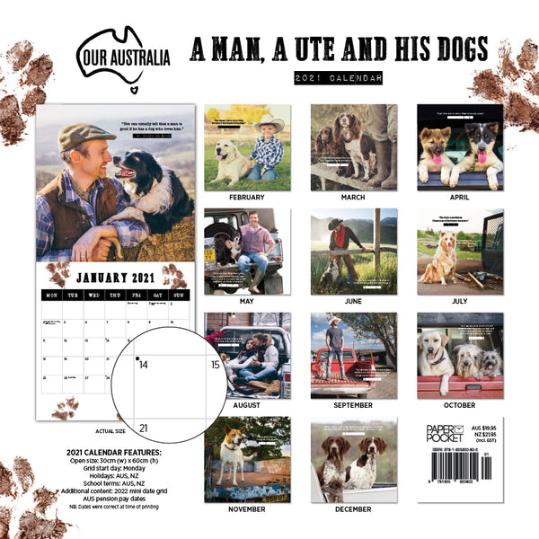 Our Australia A Man A Ute and his Dog 2021 Calendar