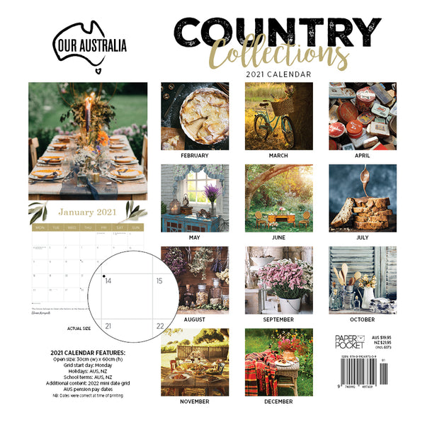 Our Australia Country Collections 2021 Calendar